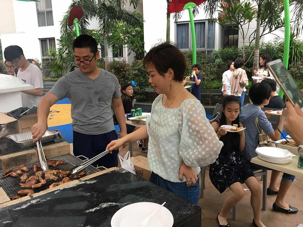 We had a great time having BBQ and fun after all the year end exam