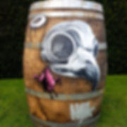 street art, graffiti, mural, krishna malla, tech moon, canvas, london, bournemouth, bird, barrel, character,