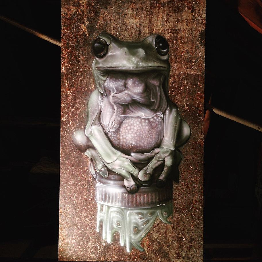 street art, graffiti, mural, krishna malla, tech moon, london, bournemouth, mexican, street food, ojo rojo, frog,