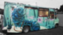 street art, graffiti, mural, krishna malla, tech moon, london, bournemouth, vehicle, alice wonderland, caterpilla,