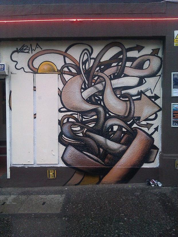 street art, graffiti, mural, krishna malla, tech moon, london, bournemouth, character, red bull, builders, abstract,