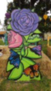 Street art, graffiti, krishna malla, tech moon, film 4, the festival, flower,