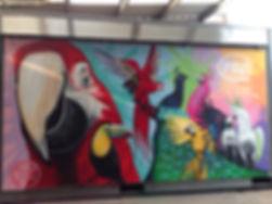 street art, graffiti, mural, krishna malla, tech moon, london, bournemouth, vehicle, street food, birds,