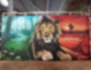 street art, graffiti, mural, krishna malla, tech moon, london, bournemouth, wilkswood reggae, festival, lion, dub