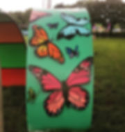 Street art, graffiti, krishna malla, tech moon, film 4, the festival, butterfly,