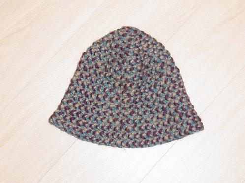 ニット帽 ブルー