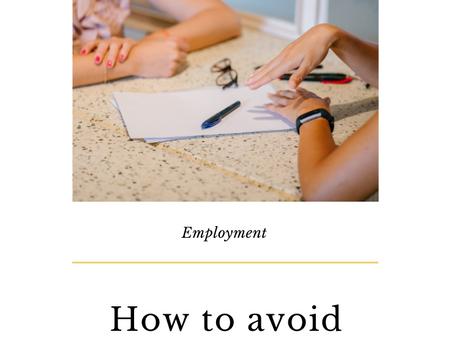 Applying for jobs, career advice.