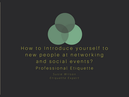 Social Etiquette- Introductions               How to introduce yourself at social events?