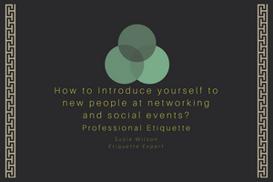 Introductions at social and networking events
