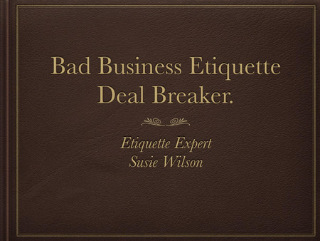 Etiquette Tip Table Manners.