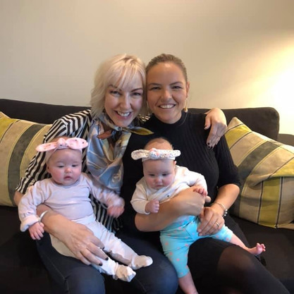 Susie Wilson with Bianca Paterson and Grandaughters