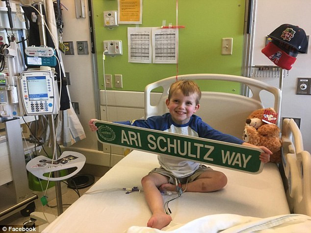 In his spare time, Ari loves Harry Potter and baseball and the Boston Red Sox. In the video, he asks if he will be able to go home soon. It is expected that he will need to remain in the hospital for one to three months following the operation