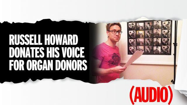 Russell Howard donates his voice to promote organ donation