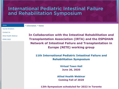 The International Pediatric Intestinal Failure and Rehabilitation Symposium is coming soon!