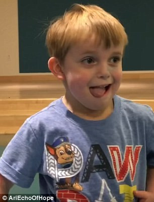 A five-minute video shows Ari's reaction to the news he will receive a heart transplant after waiting 211 days