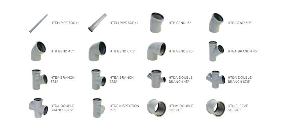 PVC 3P pipes and fittings