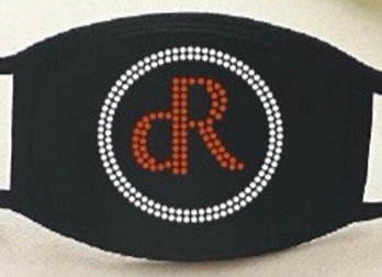 Red dR w/ Clear Circle Rhinestone Mask
