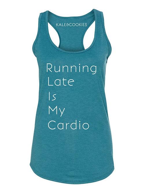 """Running Late Is My Cardio"" Racerback"