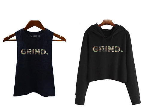 """Grind."" Fleece + Tank (4 Styles)"