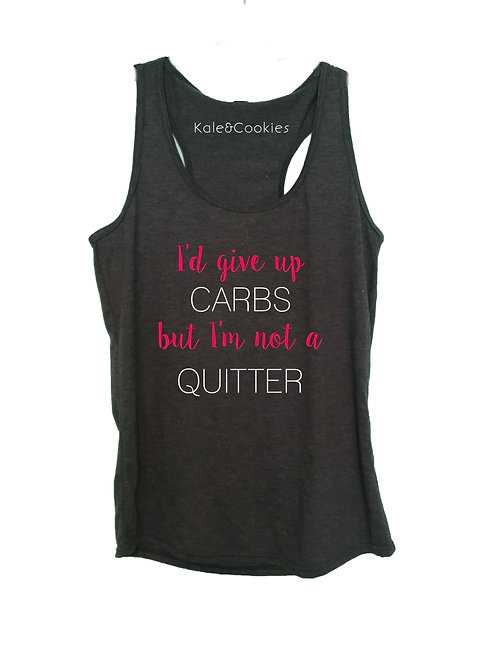 """I'd Give Up Carbs"" Racerback"