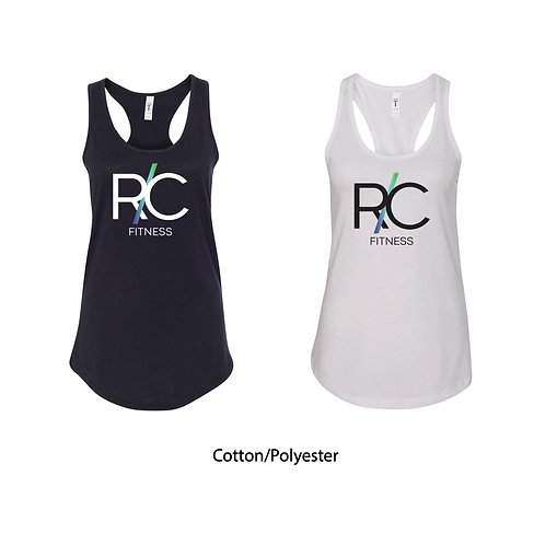 R/C Fitness Logo Cotton/Poly Racerback