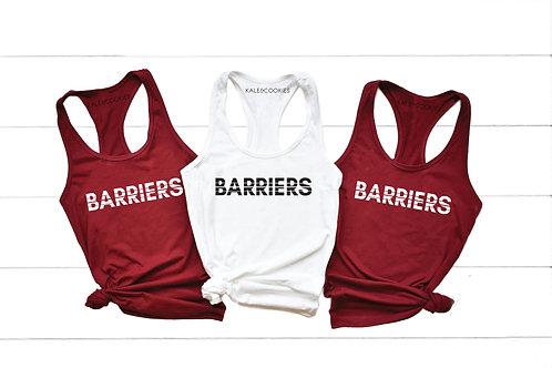 """""""Barriers"""" Racerback Tank"""