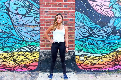 Women's Black Reflective Leggings
