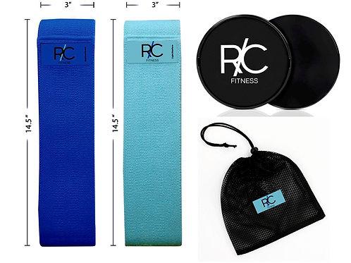 Premium Fabric Resistance Band & Slider Kit