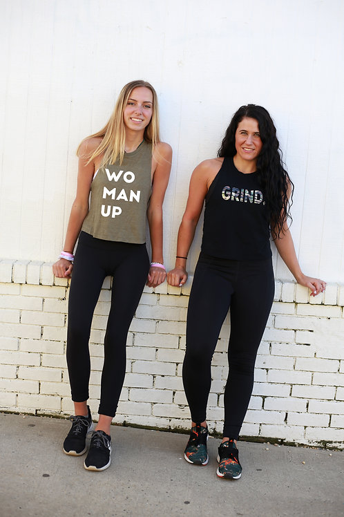 """Woman Up"" Cropped Tank"