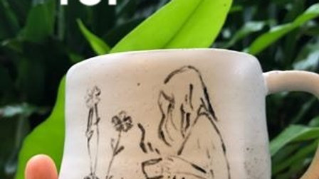 Cup with girl