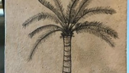 Tile with palm