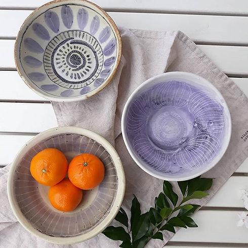 Ceramics bowls with scraffito  #ceramics