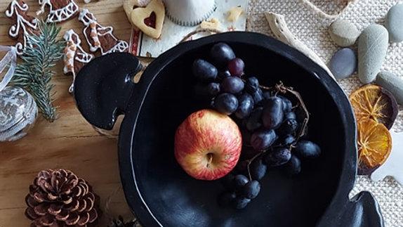 Black rustic bowl - 28 cm