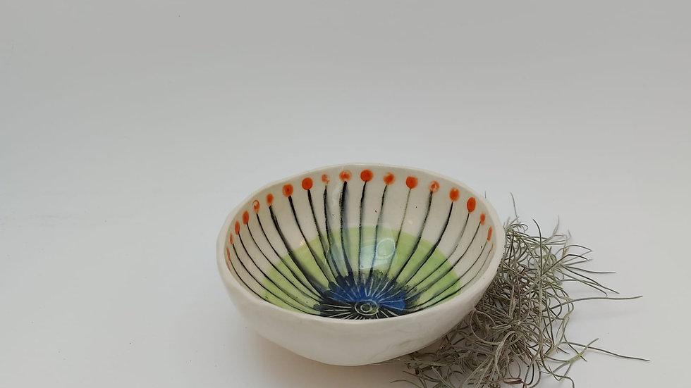 Bowl with geometric pattern