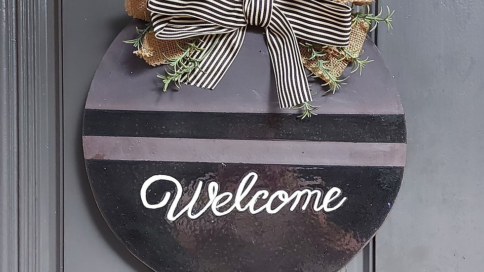 "Door hanger ""Welcome"""