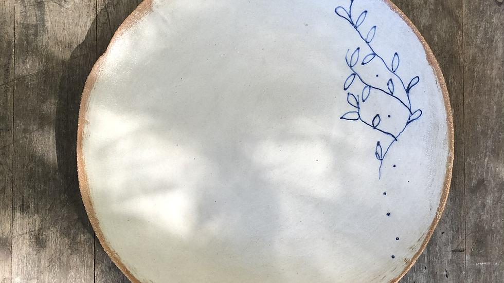Stoneware large bowl d-35cm