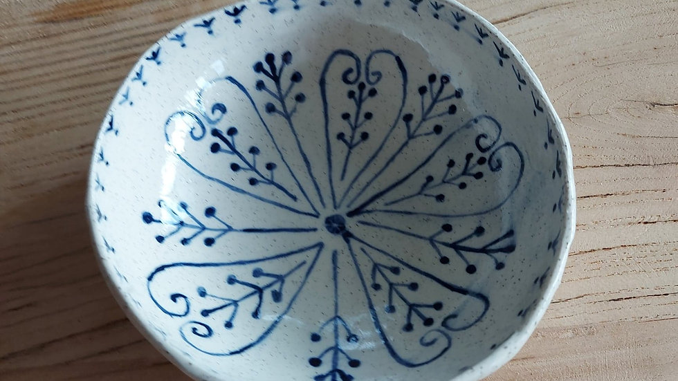 Bowl with blue pattern