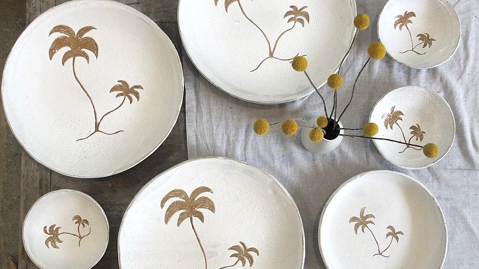 Palm tree big cheese platters/bowl d-34cm