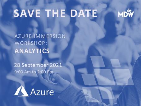 28.09 - Azure Immersion Workshop: Analytics