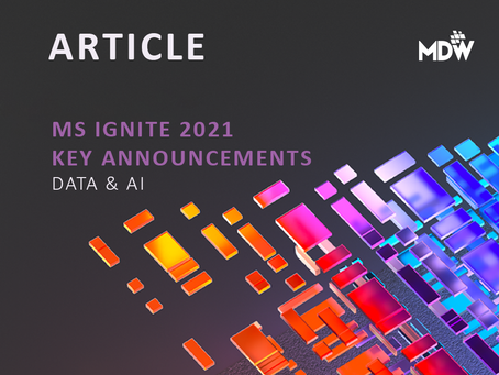 MS Ignite 2021: Key Data & AI Announcements