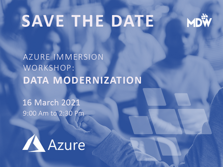 16.03 - Azure Immersion Workshop:Data Modernization