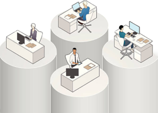 Figure 1 Data silos in a company