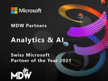 MDW is Analytics & AI Swiss Microsoft Partner of the Year!