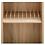 Thumbnail: RMF gekantelde legplank met pinnen OPTIE WALL