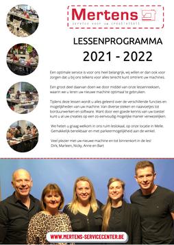 Lessen 2021 - 2022