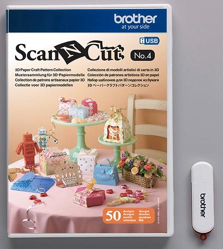 ScanNCut USB n° 4 Collectie 3D papiermodellen