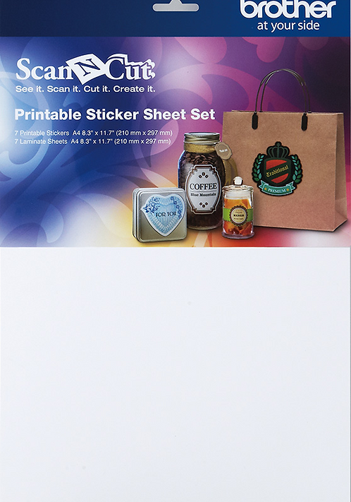 ScanNCut aanvulling Printbare stickerkit