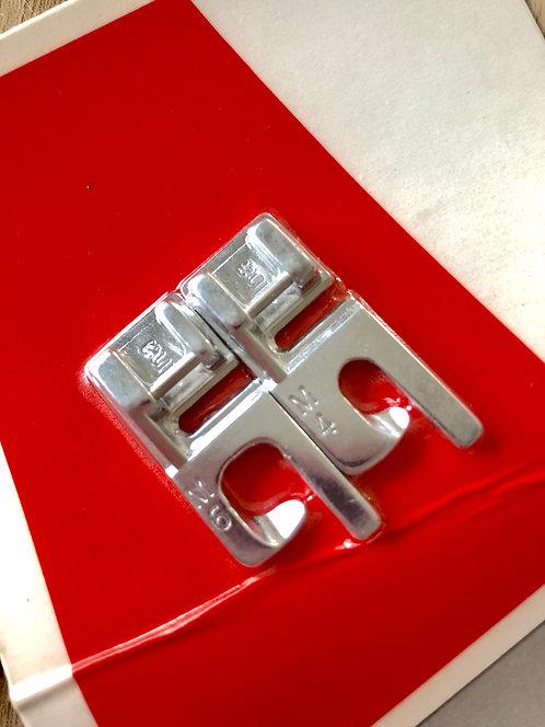 Platte naad voetenset 2 stuks: 4 en 6mm