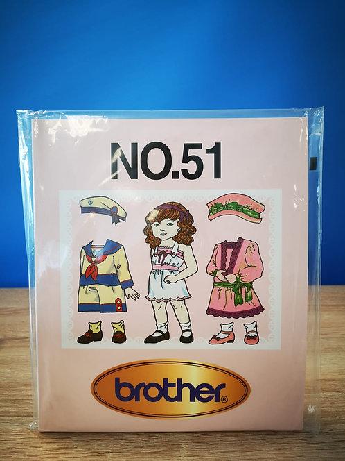 Brother borduurkaart NO.51