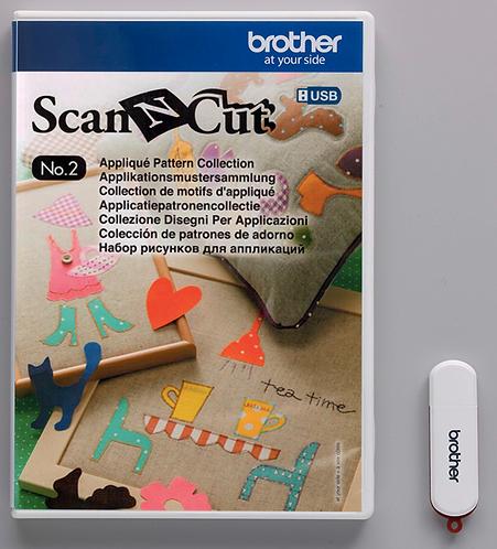 ScanNCut USB No. 2 Applicatiepatronencollectie